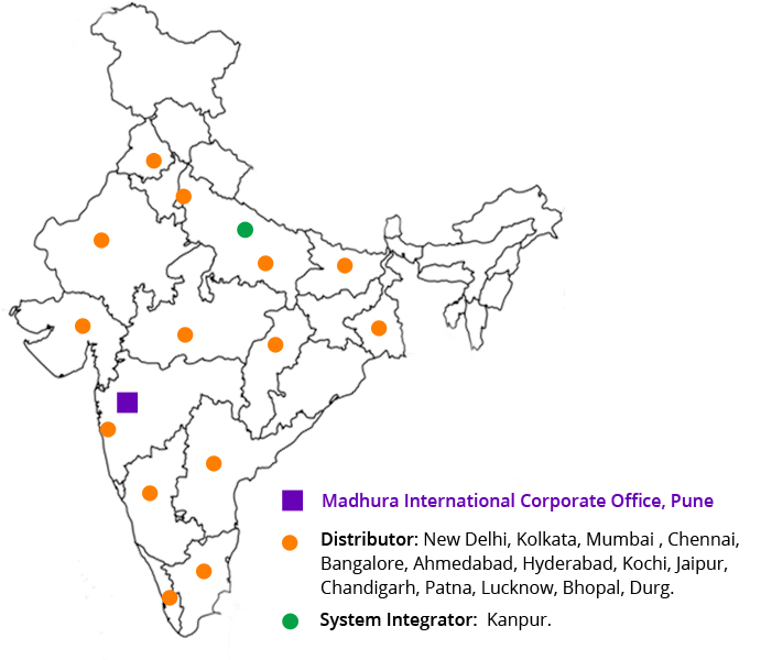 India Distributors Network Map